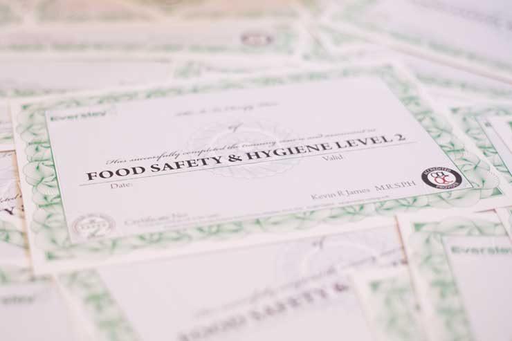 free food hygiene certificate