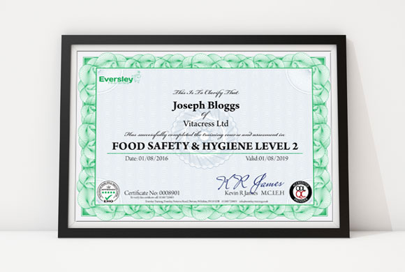Food Hygiene Level 2 Eversley Training